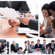 Foto Stock: Collage of business meetings