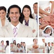 Collage of happy business — Stock Photo #10600155