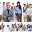 Stock Photo: Collage of business work team