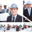 Stock Photo: Collage of construction