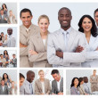 Stock Photo: Collage of friendly business