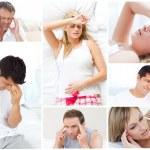 Collage of sick — Stock Photo