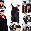 Stock Photo: Collage of students graduating