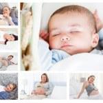 Photos of pregnant women surrounding a baby — Stock Photo #10601198