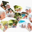 Royalty-Free Stock Photo: Collage of different elderly couples spending time together