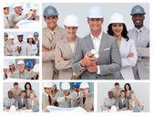 Collage de construcción — Foto de Stock