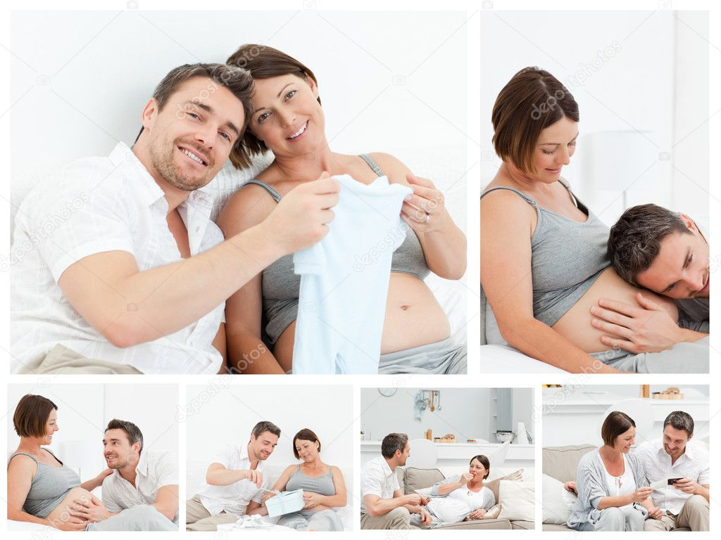 Collage of future parents  Stock Photo #10600058