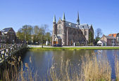 Bridge to church, Alkmaar town, Holland, the Netherlands — Stock Photo