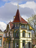 Colorful house in Alkmaar town, Holland, The Netherlands — Stock Photo