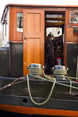 Captain cabin on the barge — Stock Photo