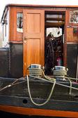 趸船上的船长小屋 — 图库照片