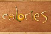 Calories concept — Stock Photo