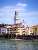 Verona and Adige River — Zdjęcie stockowe