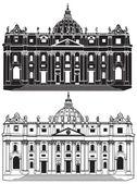 St. Peter's Basilica, Vatican — Stock Vector