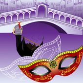 Symbols of Venice — Stock Vector