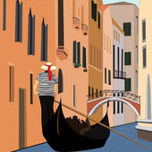 Canal of Venice — Stock Vector