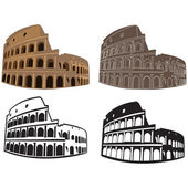 Vector image of Colosseum, Rome — Stock Vector