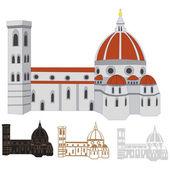 Vector image of Santa Maria del Fiore, Florence — Stock Vector