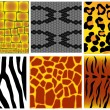 Animal skin textures — Stock Vector #9826378