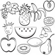 Fruit icons — Stock Vector #9826577