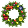 Christmas wreath — Stock Vector #9827241