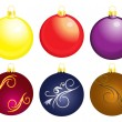 Set of christmass balls — Stock Vector