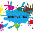 Blots in different colors — Stock Vector