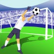 Jumping goalie — Stock Vector