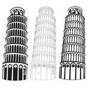 Vector image of Pisa tower — Stock Vector