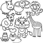 Wild animals illustration — Stock Vector