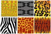 Animal skin textures — Stock Vector