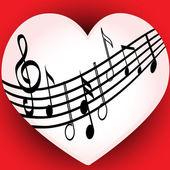 I love music — Stock Vector