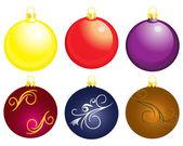 Set of christmass balls — Stock Vector