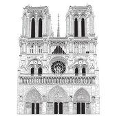 Vector image of Notre Dame de Paris — Stock Vector