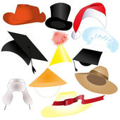 Set of Hats — Stock Vector