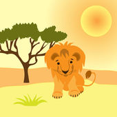 Cartoon picture of Lion — Stock Vector