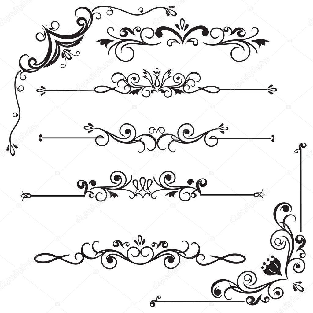 Bordes decorativos vector de stock 9827541 depositphotos - Adornos para fotos gratis ...