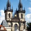 Church of Our Lady before Tyn, Prague - Stock Photo