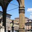 Loggidei Lanzi in PiazzdellSignoria, Florence — Stock Photo #9844016