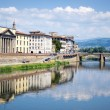 Arno River, bridge Florence — Stockfoto #9844171