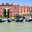 Gondolas in Grand Canal, Venice, Italy — Stock Photo