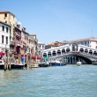 Venice's Grand Canal. Rialto Bridge — Stock Photo #9845381