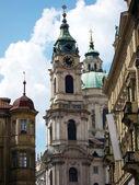 Prague, St. Nicolas Church — Stock Photo