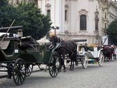 Carriage at the Old Town Square, Prague — Stock Photo