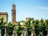 Verona, Tower Lamberti, Italy — Stock Photo