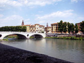 Verona, Bridge Vittoria — Foto de Stock