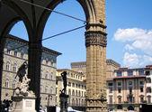 Loggia dei Lanzi in Piazza della Signoria, Florence — Stock Photo
