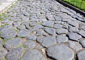 Roma Cobbled Road — Stock Photo