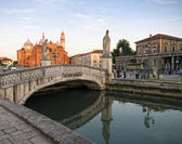 Padua at sunset, Italy — Stock Photo