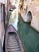 Old boat in Venice, Italy — Stock Photo